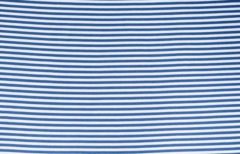 Grey/White Stripe Ribbing LS