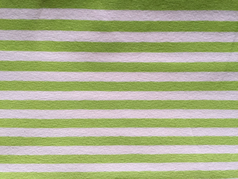 Apple Green/White Stripe