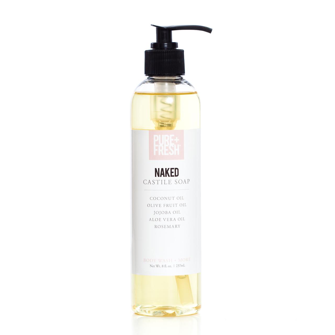 8oz bottle of fragrance free Castile Soap