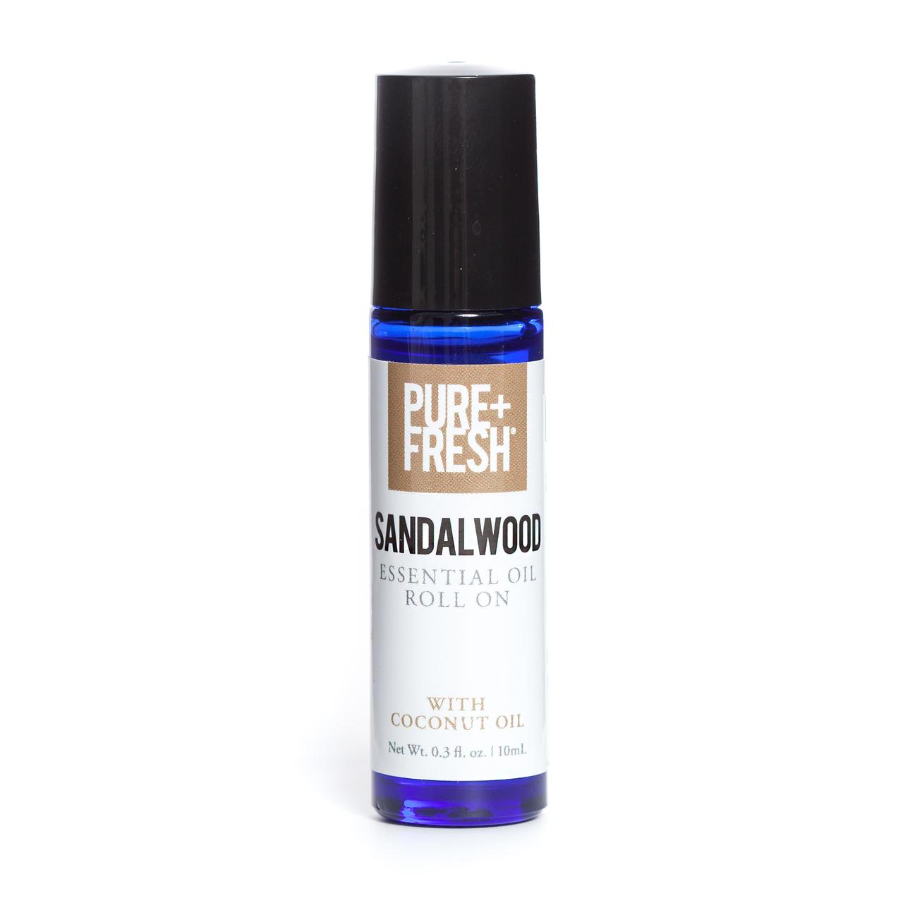 0.3 fl oz. Bottle of Pure+Fresh Sandalwood Roll On Essential Oil