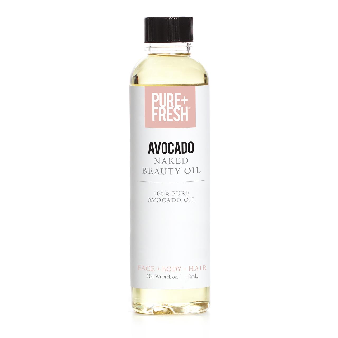 4.0 fl oz. Bottle of Pure+Fresh Fragrance Free Avocado Oil