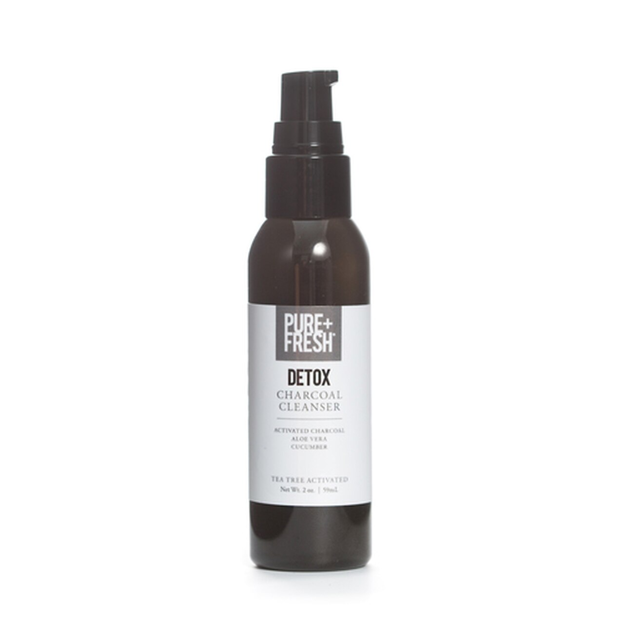 2oz Bottle of Pure+Fresh Detox Charcoal Cleanser