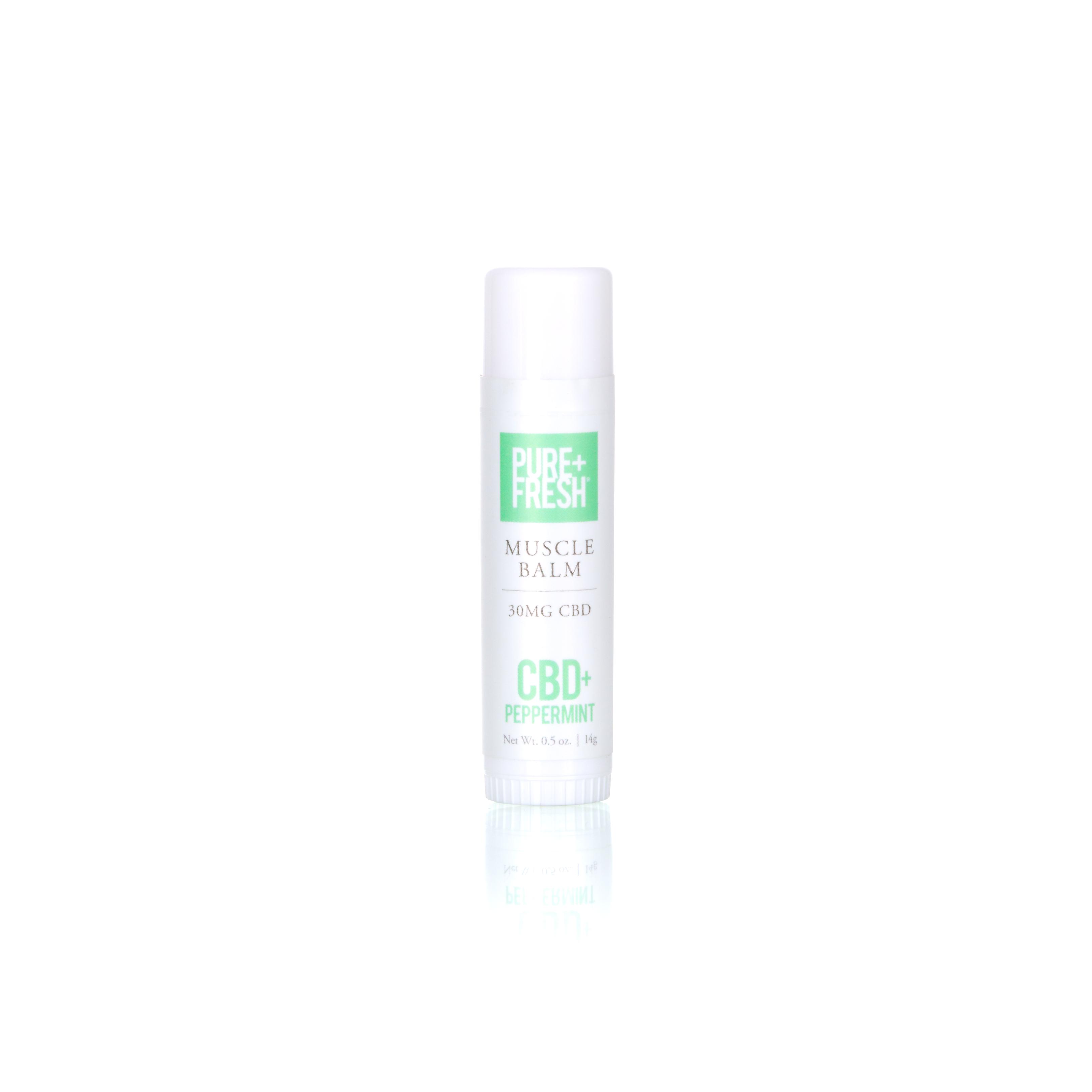 Bottle of Pure+Fresh CBD Peppermint CBD Balm
