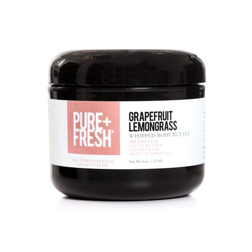8oz Jar of Pure+Fresh Grapefruit Lemongrass Whipped Body Butter