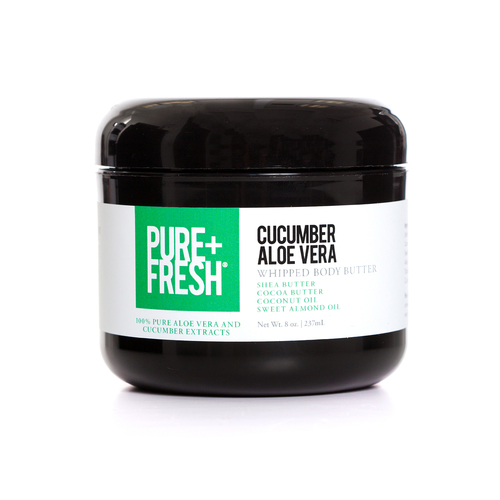 8oz Jar of Pure+Fresh Cucumber Aloe Vera Whipped Body Butter