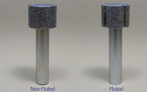 """3/4"""" X 3/4"""" X 1/2"""" X 3"""" OAL Non-Fluted Diamond Router"""