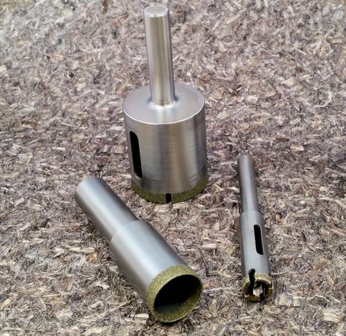 "9/16"" Mounted Diamond Core Drill 40/50 Grit Diamond"