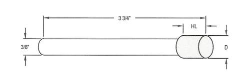 "D = .406"" - HL = .375"" X 3/8"" Shank; 140/170 Grit Diamond"