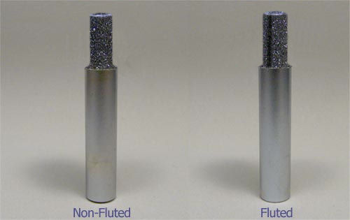 """3/8"""" X 1"""" X 1/2"""" X 2-1/2"""" OAL Fluted Diamond Router"""