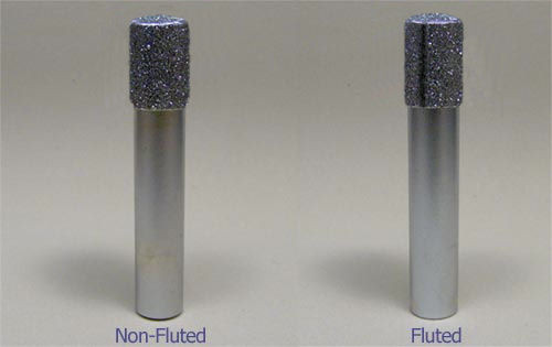 "1/2"" X 1-1/2"" X 1/2"" X 3"" OAL Fluted Diamond Router"