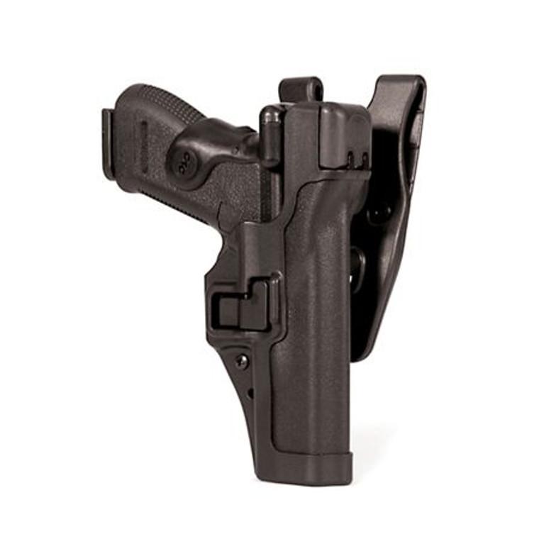 BlackHawk Level 3 SERPA Auto Lock Duty Holster Left Matte Glock 17, 19, 20, 21, 22 23, 31, 32