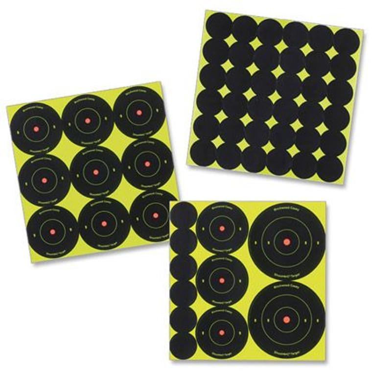 "Shoot•N•C® Self-Adhesive Targets 1"", 2"" and Assorted Bull's-Eye Packs 1"
