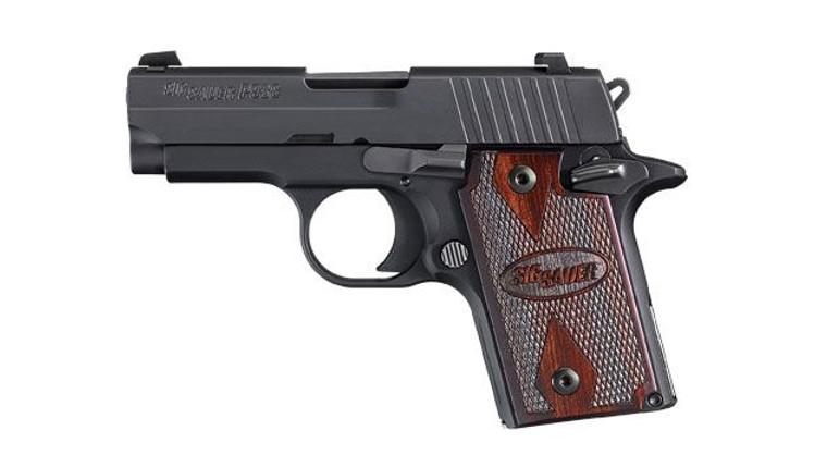 Sig Sauer P938 w/ Rosewood Grips (938-9-RG-AMBI)