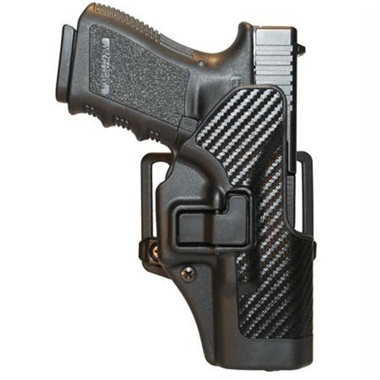 BlackHawk SERPA CQC Left Glock 26, 27, 33 Carbon Fiber Finish 410001BK-L