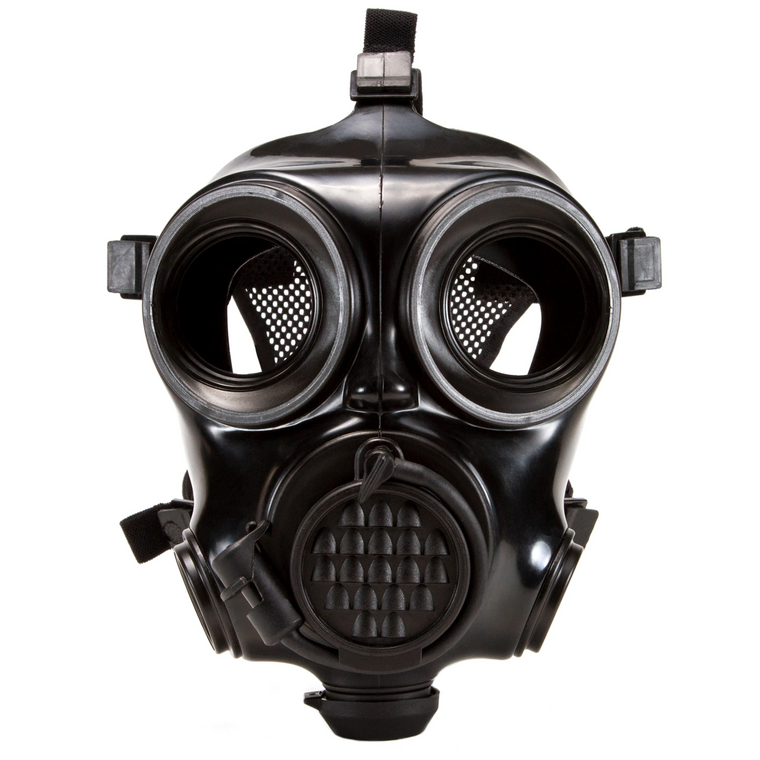 Mira Safety CM-7M Military Gas Mask, Medium (Size 2)