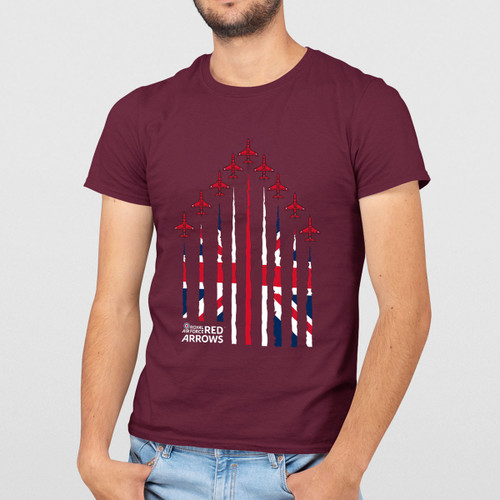 Official RAF Red Arrows UJ Formation Adult T-Shirt