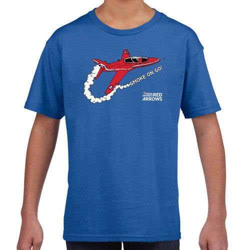 Official RAF Red Arrows Smoke On Go Kids T-Shirt
