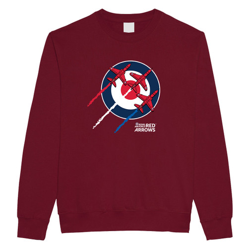 Official RAF Red Arrows Roundel Adult Sweatshirt