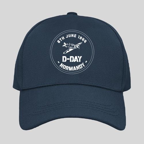 D-Day Spitfire Print Navy Cap