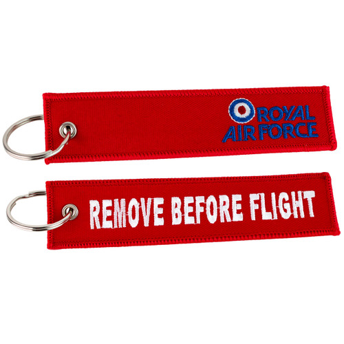 Official Royal Air Force 'Remove Before Flight' Keyring