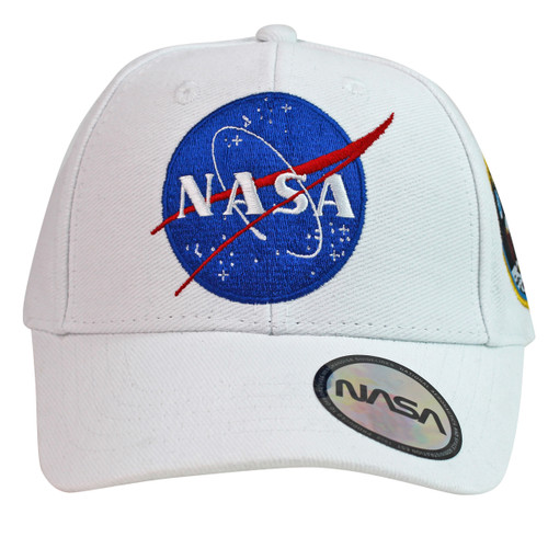 NASA Embroidered Apollo 11 White Baseball Cap