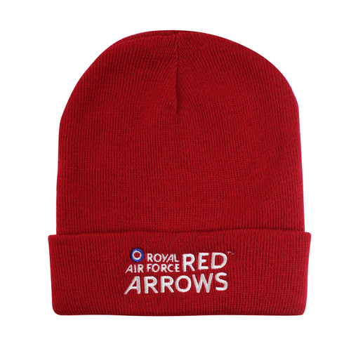 Official RAF Red Arrows Red Turn Up Beanie