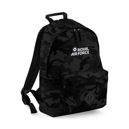 Official Royal Air Force Black Camo Backpack