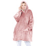 Oversized Cosy Reversible Sherpa Hoodie Blanket