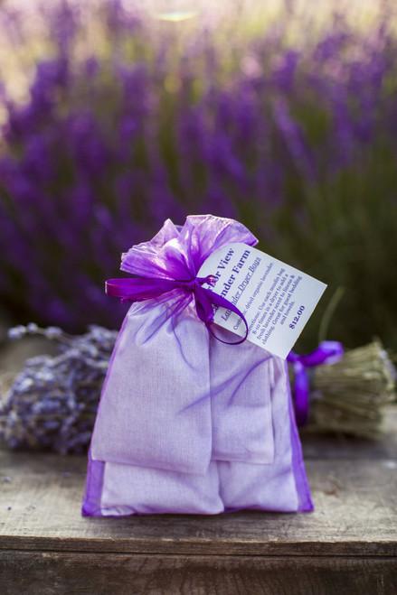 Lavender Dryer Bags, 4 per set