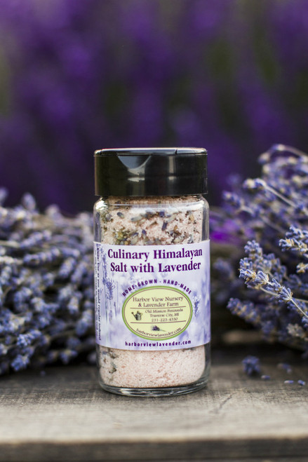 Culinary Himalayan salt with Lavender, 4.5 ounces