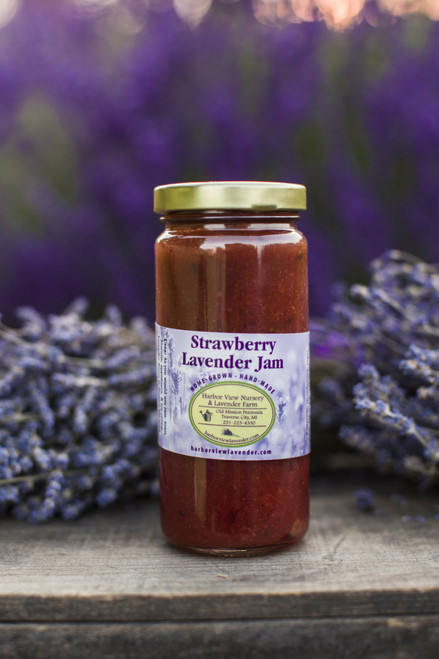 Strawberry Lavender Jam, 10 ounces