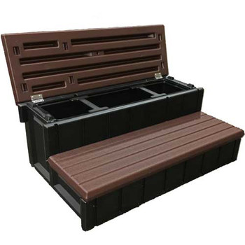 "Spa Step 36"" with Storage-Espresso"