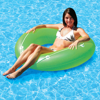 "Neon Frost Swim Tube 47""- Actual Photo - Green"