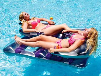 """Face 2 Face Double Lounger 66"""" - Out of Box - Side"""
