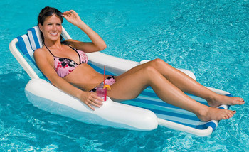 Sunchaser Sling Style Floating Lounge - Actual Photo