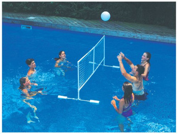 Floating Super Volleyball Game - Actual Photo