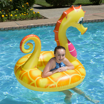 "48"" Yellow Seahorse Tube float"