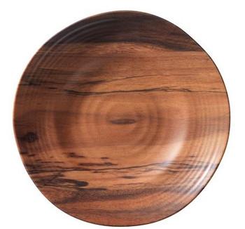 "Acacia Wood 10"" Dinner Plate"