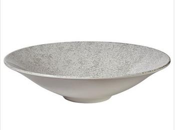 "White Crackle 14"" Serving Bowl"