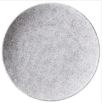 """White Crackle 11"""" Dinner Plate"""