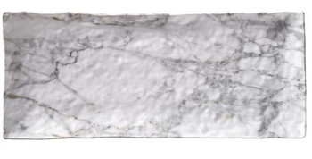 "White Marble 15.25 X 6.25"" Loaf Tray"