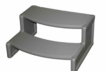 Spa Handi Step 2 Curved-Grey - Out of Box