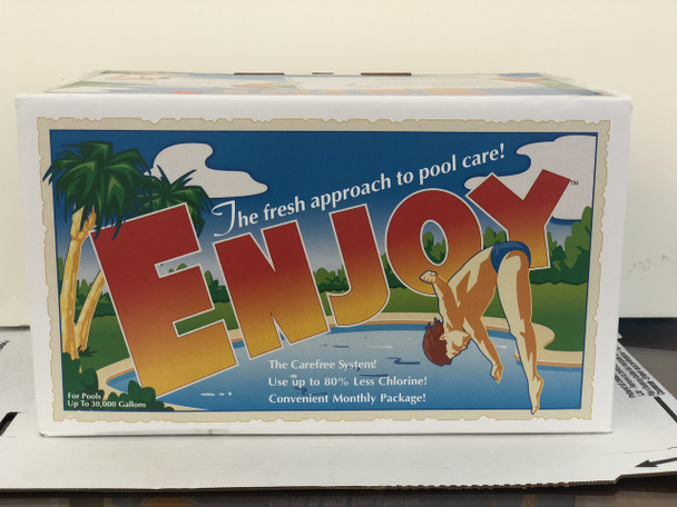 Enjoy - up to 30,000 gallon pools (3 month supply up to 24' pool)  - In Box