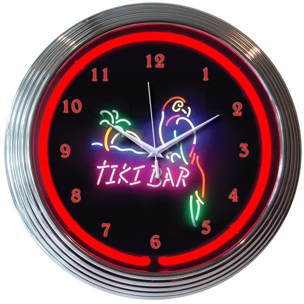 Clock - Neon - Tiki Bar