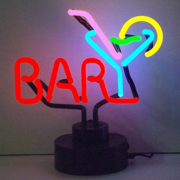 Neon Sculpture - Bar Martini
