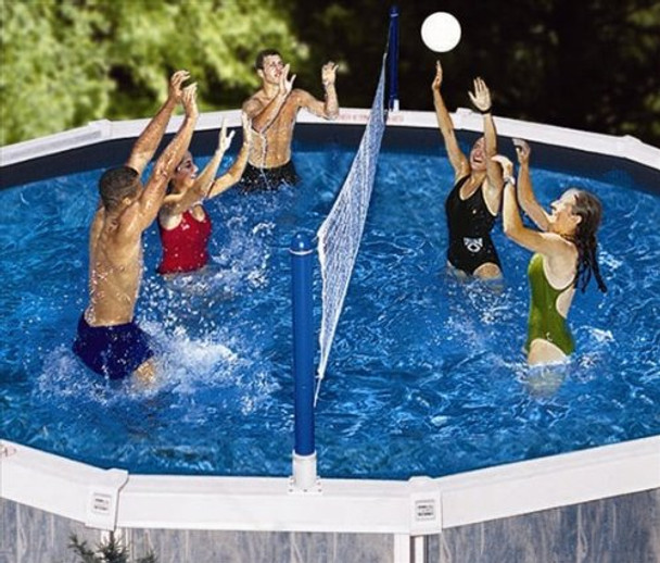 Above Ground Volleyball Game - Actual Photo