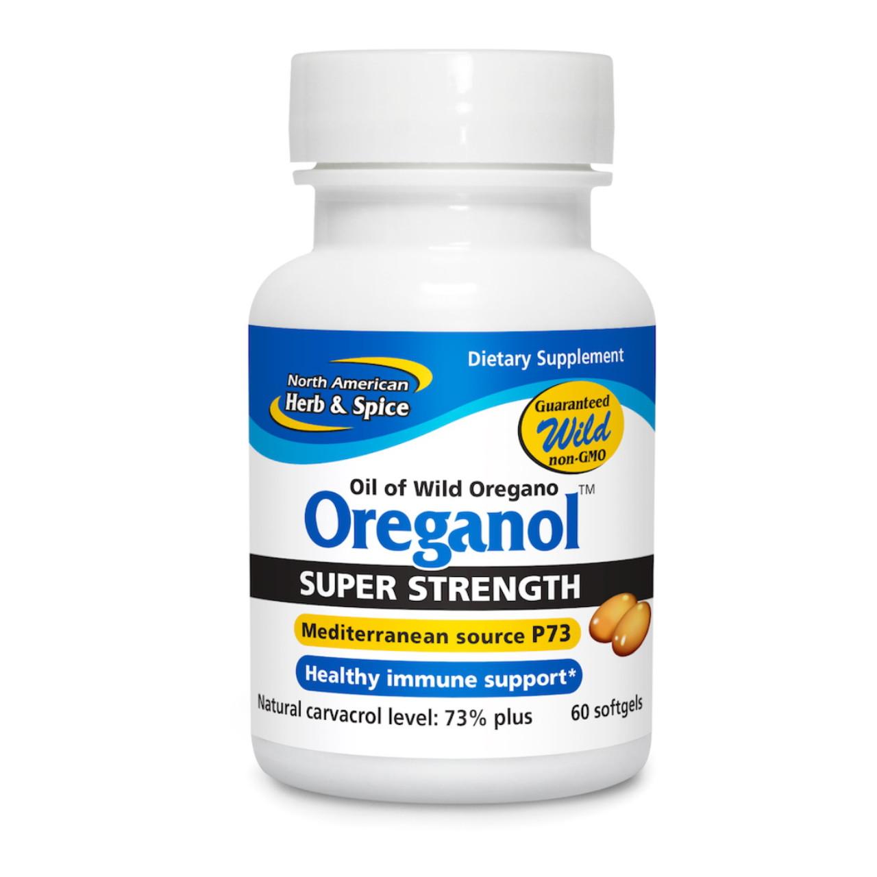 North American Herb Spice Super Strength Oreganol P73 Oil Of Oregano 60 Softgels