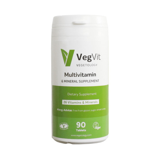 Vegetology VegVit Multivitamin & Mineral Formula - 90 veg tablets