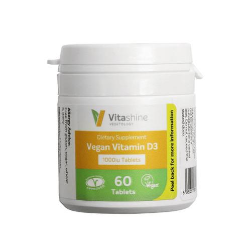 Vegetology Vitashine Vitamin D3 1000IU - 60 veg tablets
