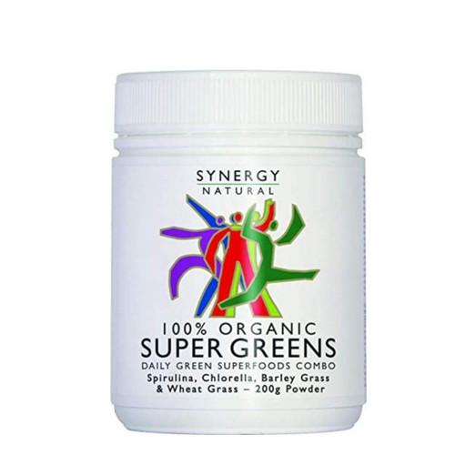 Synergy Natural Organic Super Greens Powder - 200g